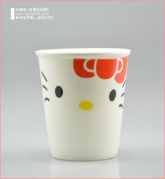 【环保陶瓷纸杯造型杯/韩版创意随手杯kitty-红/0889