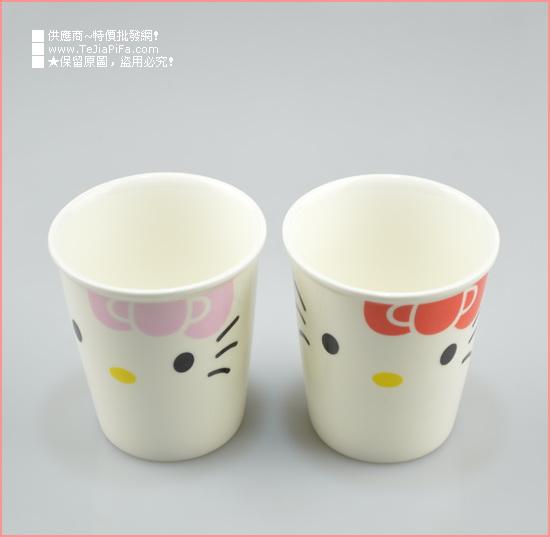 【环保陶瓷纸杯造型杯/韩版创意随手杯kitty-粉/089