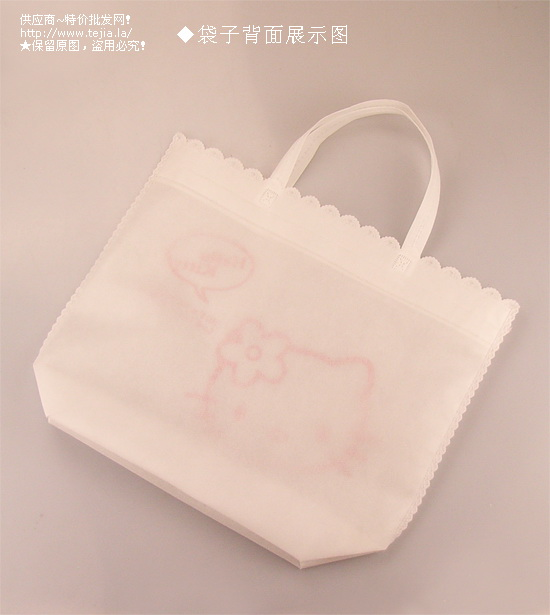 物袋/白色玫瑰花边无纺布
