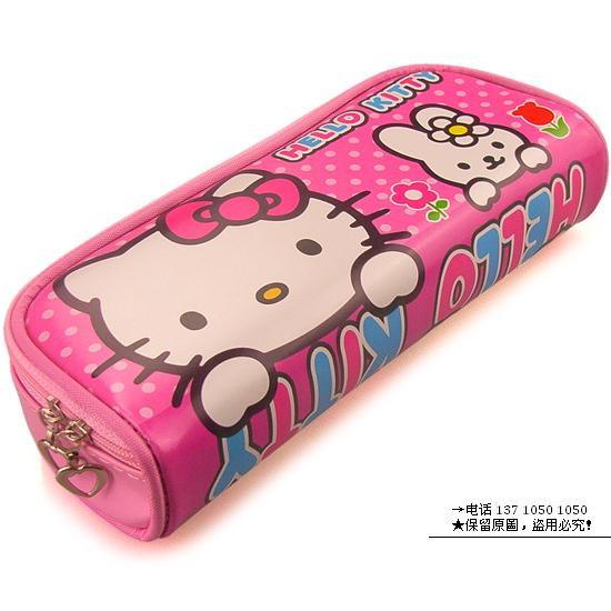 hello kitty文具袋/凯蒂猫笔袋/皮质文具包图片